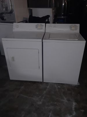 Washer and dryer electric ge good condition 90 days warranty labadora y secadora electrica ge buenas condiciones 90 dias de garantia for Sale in San Leandro, CA