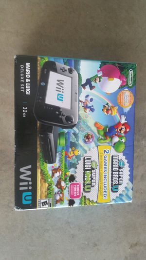 Mario & Luigi Nintendo wii U system complete for Sale in Queen Creek, AZ
