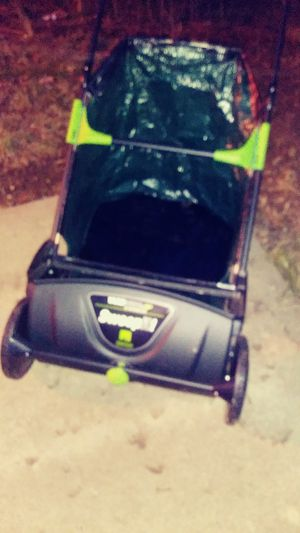 Brand new Sweep-it picks up Leave by Yard wise Lawn sweeper bran new... for Sale in Weston, MO