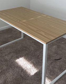 48-Inch Computer Desk, (White/Oak) for Sale in Hicksville,  NY