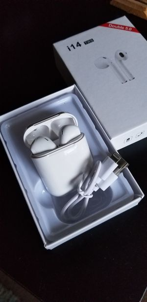 White wireless earbuds new rechargeable bluetooth not AIRPODS for Sale in Fremont, CA
