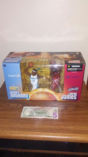 LeBron James Carmelo Anthony NBA action figure box set for Sale in Cleveland, OH