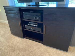Media stand - dark wood for Sale in Franklin, TN