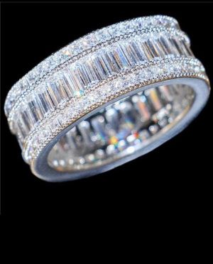 18K Gold plated multi Diamond Ring- Highly Sparkling —Code HkQ104 for Sale in San Jose, CA