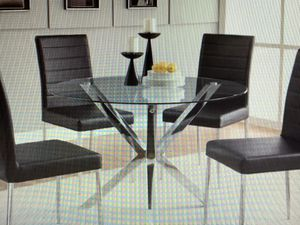 """41"""" glass and chrome dining table for Sale in Los Angeles, CA"""