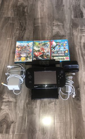 Nintendo Wii U With Three Games for Sale in Los Angeles, CA