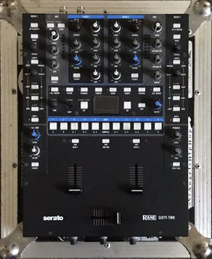 Rane 62 Mixer /w Road ready Flight Case for Sale in Corona, CA