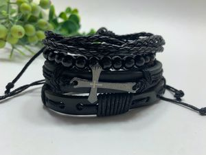 Braided Multi-layer Leather Bracelet (Set of 4), Cross for Sale in Los Angeles, CA
