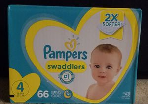 66 count size 4 Pampers Swaddlers for Sale in Glendora, CA