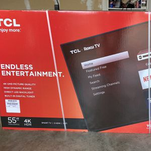 "TCL 55"" INCH 4K UHD HDR LED SMART ROKU TV (Ultra High Definition) for Sale in Fort Worth, TX"