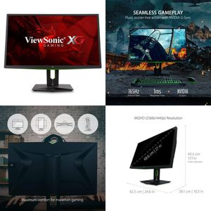 **FINANCING + WARRANTY** Viewsonic XG2760 Widescreen Gaming LCD Monitor 27-in 27in Fast Action 165Hz GSync With Eye Care. for Sale in Rialto, CA