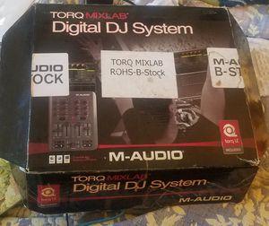 M-Audio Torq MixLab Digital DJ System, X-Session Pro USB Controller for Sale in Denver, CO