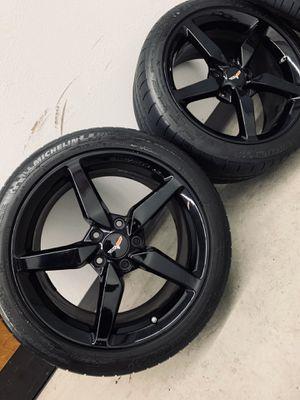 C7 Chevy Corvette Wheels Rims Tires OEM New for Sale in Gardena, CA