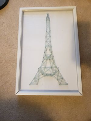 Eiffle tower string art shadow box for Sale in Fort Smith, AR