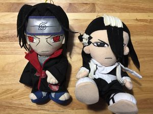 Itachi Uchiha and Byakuya Kuchiki Great Eastern anime plush toys for Sale in Miami, FL