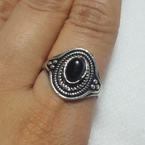 Natural Black Onyx Sterling Silver Ethnic Handmade Gemstone Ring No Stamp Ring size - 8 RGN-131 *Shipping Only* for Sale in Queens, NY