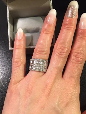 925 Sterling Silver Multi Row Diamond for Sale in Princeton, NJ