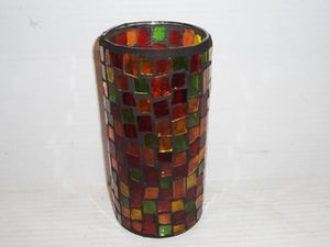MOSAIC GLASS DECORATIVE SET of 3 CANDLE HOLDER NEW for Sale in Fresno, CA