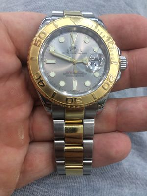 Rolex Yachtmaster 40mm 2 tone 18k gold oyster band slate face mint condition for Sale in Orlando, FL