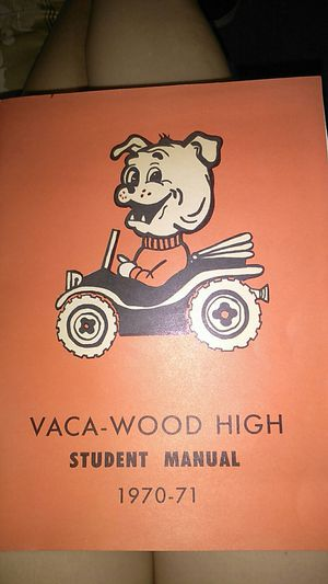 Vaca High 1970-1971 Student Manual for Sale in Vacaville, CA