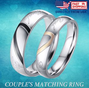 Couple's Matching Heart Ring, REAL Love His and Hers Wedding Band Promise Ring for Sale in Arlington, VA