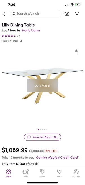 LILLY dining table (NEW) for Sale in Lawrenceville, GA