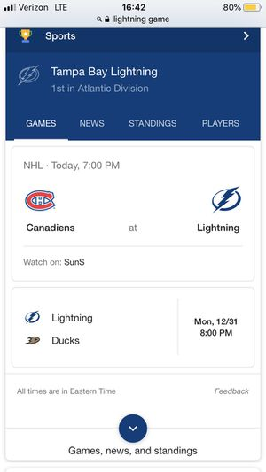 Lightning tickets for Sale in Tampa, FL