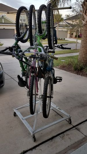 Bikes and hanging rack. In Land O Lakes, FL (near Land O Lakes, High School) for Sale in Land O Lakes, FL
