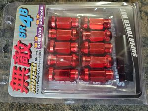 Muteki 12x1.5 Red Tuner Lugs Lug Kit Lug nuts for Rims Wheels for Sale in Chicago, IL