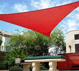 $30 each (new) 23x16x16ft triangle sun shade sail uv top cover outdoor patio canopy (red or blue) for Sale in El Monte,  CA