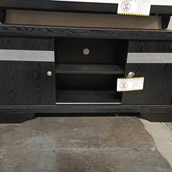 NEW, BLACK AND GRAY TV STAND, SKU#TCB4670 for Sale in Huntington Beach,  CA