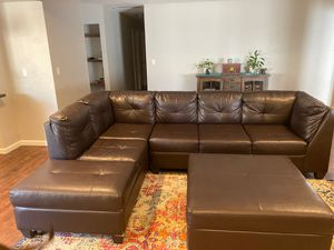 Leather Sectional for Sale in Escondido, CA