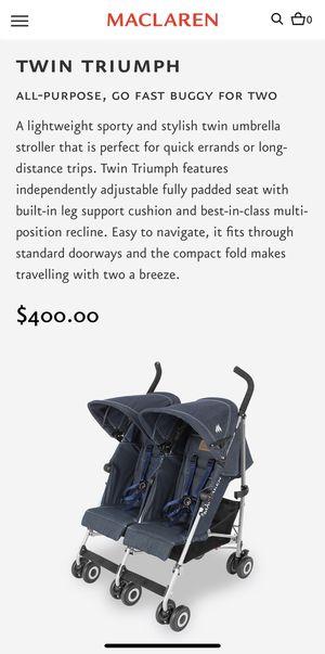 Maclaren twin double stroller for Sale in Chesapeake, VA