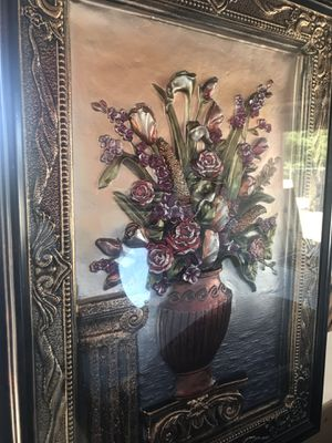 Flower pot 3D framed picture for Sale in Dinuba, CA