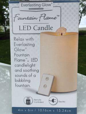 LED Candle Essential Oil Fountain w/remote for Sale in Hillsboro, OR