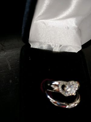 Sterling silver white topaz ring set size 7 for Sale in Blue Rock, OH