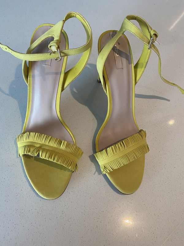 Never worn Aldo fringe sandals