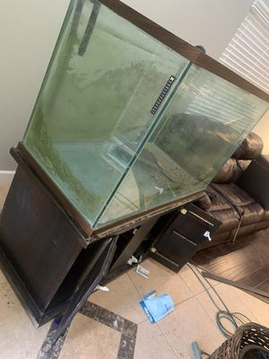 150 gal aquarium w stand for Sale in Hemet, CA