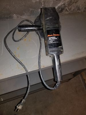 """Black and Decker 7"""" 3/4 HP 2 speed sander polisher for Sale in Haverhill, MA"""