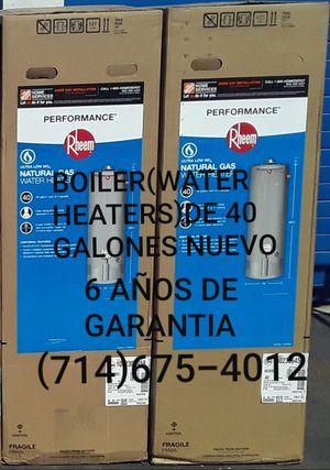 BOILER(WATER HEATERS)DE 40 GALONES NUEVO DE LA MARCA RHEEM!!!!!!!!! for Sale in Santa Ana, CA
