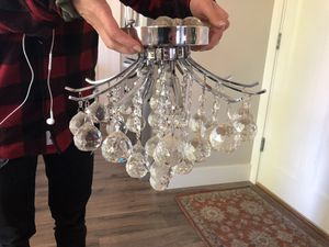 Crystal Ball Light Fixture for Sale in Vancouver, WA