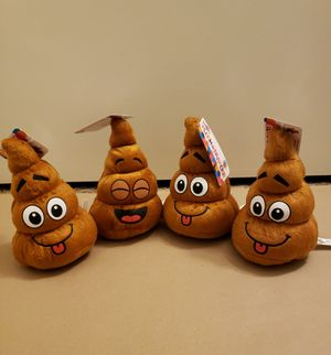 NEW Smiling Poop Plushies Set of 4 for Sale in San Diego, CA