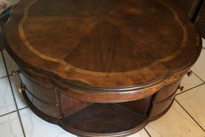 Round coffee table solid wood for Sale in Dowagiac, MI