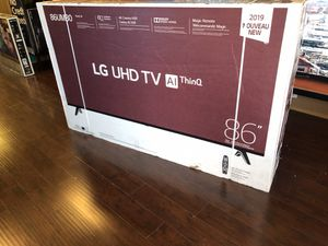 LG 86 inch 4K TV smart with warranty and magic remote for Sale in Riverside, CA