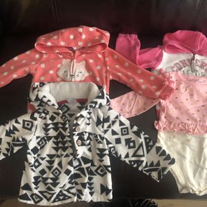 Girl Clothes 6-9 Months: 2 Warm Jackets, 2 Light Jackets, 1 Long Sleeve Shirt, 1 Long Sleeve Onesie. for Sale in Poway, CA
