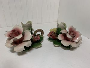 Vintage Italian Capodimonte candle holders for Sale in Novelty, OH