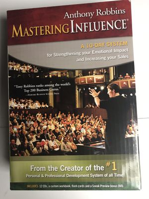 Anthony Robbins Mastering Influence (10 Day Audio Coaching System) for Sale in Corona, CA