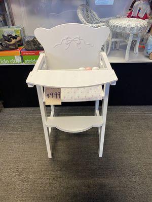 Kid Kraft Tiffany Bow Lit Doll High Chair for Sale in Renton, WA