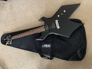 B.C. Rich Electric Guitar + Bag Case for Sale in North Arlington, NJ