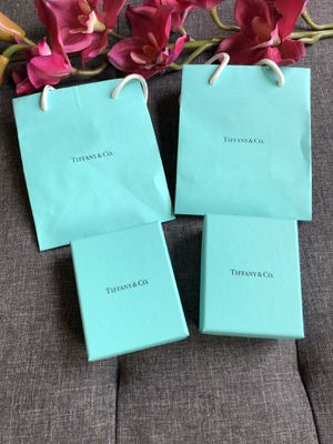 Authentic Tiffany & Co. Gift Boxes and Bags for Sale in Pittsburgh, PA
